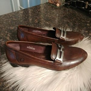 Born brown leather loafers 10